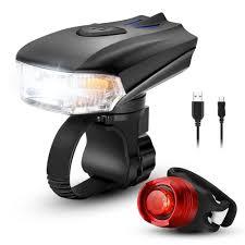 400 Lumen Bike Light Us 11 98 15 Off Waterproof Led Usb Rechargeable Smart Bike Light Set Super Bright 400 Lumens Bike Headlight And Tail Light Easy To Install In
