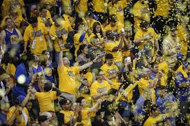 fanatics. when warriors fans celebrate, as they did in their game 2 win over cleveland, fanatics