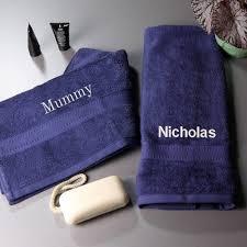 personalised luxury cotton hand towel