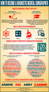 Types Of Medical Certifications How To Become A Diagnostic Medical Sonographer Visual Ly