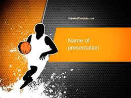 Basketball Powerpoint Template Basketball Man Powerpoint Template Authorstream