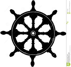 nautical steering wheel vector cartoon clipart