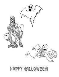 Small Picture Hello Kitty Skeleton And Pumpkin Halloween Coloring Page H M