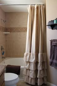 gallery of fascinating elegant white shower curtains 34 chic extra long curtain liner in linen with straight rod and silver hooks for bathroom decor ideas