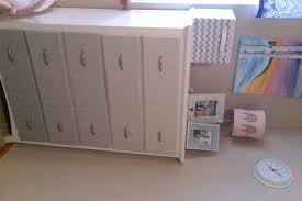 DIY Nursery: Painted Dresser, Burlap Lamp, and More - The Pink Moose