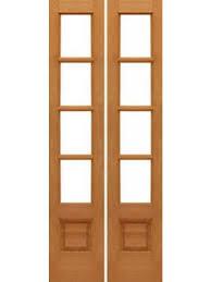 4 lite interior french door w bottom panel mahogany solid wood