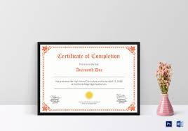 9 High School Diploma Certificate Designs Templates Psd Ai