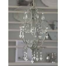 chic antique chandelier with prisms antique white small