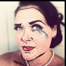 i decided to try the roy lichtenstein look this year for