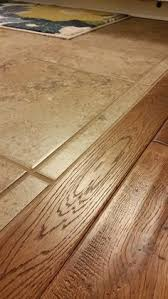 when wood and ceramic tile meet it is sweet without a lumpy transition the great indoors inc