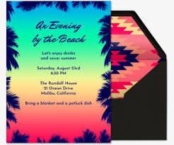 Free Beach Party Online Invitations Evite
