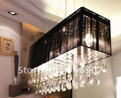 rectangle crystal pendant lamp hanging light dining room