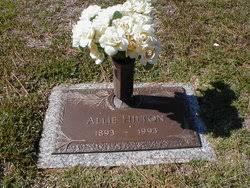 """Lillie Alvertis """"Allie"""" McAdams Hilton (1893-1993) - Find A Grave ..."""