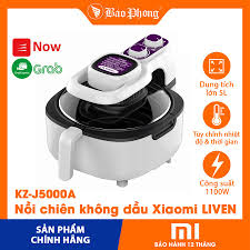 Mã 229ELSALE hoàn 7% đơn 300K] Nồi chiên không dầu 5L Xiaomi LIVEN oil-free  air fryer KZ-J5000A