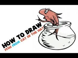 how to draw the fish from the cat in the hat dr seuss book how to draw step by step drawing tutorials