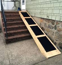 how to build a ramp over stairs image of dog ramp for stairs outside how to
