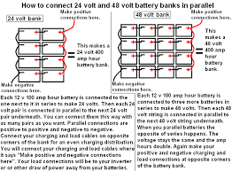 how to connect 24 volt and 48 volt battery banks in parallel battery wiring diagram for rv how to connect 24 volt and 48 volt battery banks in parallel