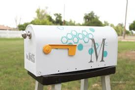 Painted mailbox designs paint and vibyl monogram fresh vinyl