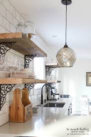 Industrial rustic kitchen shelves by somuchbetterwithage.com