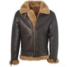 sheepskin flying jacket ginger leo