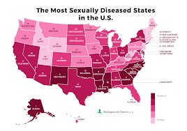 Std Chart 2016 Sti Map Of America Reveals Most Sexually Diseased State