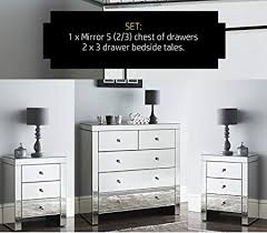 brilliant mirrored chest of drawer and bedside table niche large 5 2 3 x ikea next