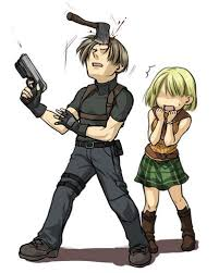Leon and Ashley by ざんし RE4 | Resident evil leon, Resident evil ...