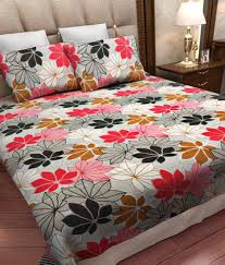 home candy double cotton floral bed sheet  buy home candy double