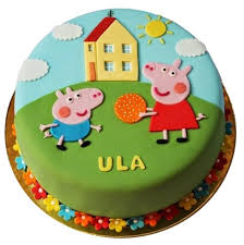 George Peppa Pig Birthday Cake Egg Free And Gluten Free Sponge