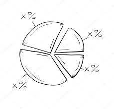 Line Chart Sketch Sketch Of The Pie Chart Stock Vector Muuraa 42308301