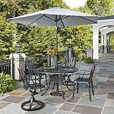 outdoor dining sets with umbrella. Home Styles Largo 6 Piece Patio Dining Set With Umbrella In Charcoal Outdoor Sets