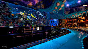 underwater restaurant disney world. T-Rex Café At Disney Springs Orlando - Dinosaur-themed Restaurant In Underwater World U