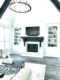 white stone fireplace lovely intended for idea 17