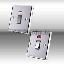water heater switch 20 amp double pole water heater switch polished mirror chrome square plate