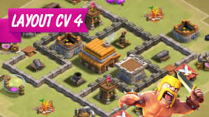 Layout Cv 4 Guerra Clash Of Clans Implacavel Youtube
