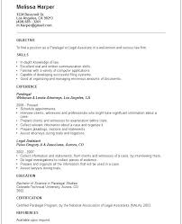 Paralegal Resume Objectives Cover Letters For Paralegals Business
