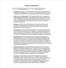 sample contract agreement example of contract agreement metierlink com
