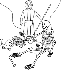 Small Picture Ezekiel and the valley of dry bones coloring page Our Bible