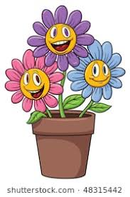picture of cartoon flowers.  Cartoon Cute Cartoon Flowers On A Flower Pot On Picture Of Cartoon Flowers