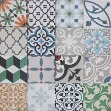 random cement tile patchwork random