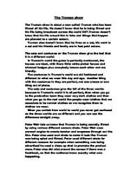 the truman show a level drama marked by teachers com page 1 zoom in