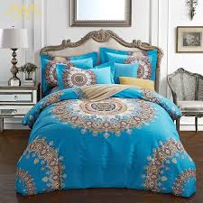 new bohemian duvet cover set queen king size warm bedding set for winter 100 cotton bed linen bed sets whole feather duvet red duvet cover from rudelf