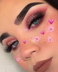 valentine s day makeups to surprise your boyfriend valentine s day makeup valentine makeup love makeup heart shape makeup valentine heart makeup