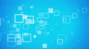 form background image flat white geometrical quad forms and shapes flow animation on blue