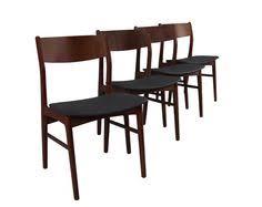 teak dining chairs danish mid century by vinedanishmodern