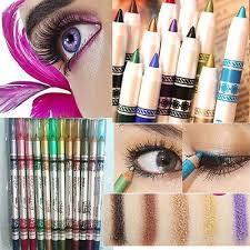 <b>12Colors Glitter</b> Lip Liner Eye Shadow Eyeliner Pencil Pen Makeup ...