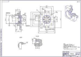 Технологический процесс обработки детали Фланец Работа Курсовая  Технологический процесс обработки детали Фланец