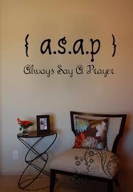 classy design ideas religious wall decor home asap always say a prayer decals vinyl hobby lobby for nursery stickers cross