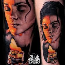 лицо девушки татуировка девушки портрет тату в коврове тату