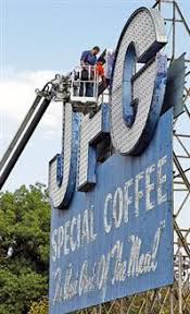 Tennessee usa family roots cafe style appalachian mountains old signs asheville back in the day vintage ads that way. Landmark Jfg Sign Sent Off For Restoration